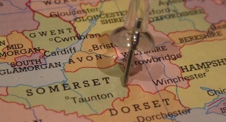 Somerset Walking Holiday Map