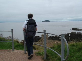 David on north Somerset coast