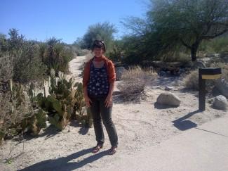 Alison in the Anza Borrego desert