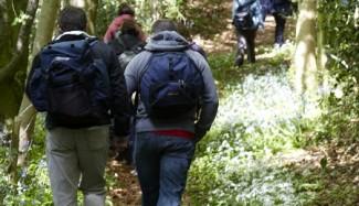 David Howell guides walking tour in Somerset, UK.