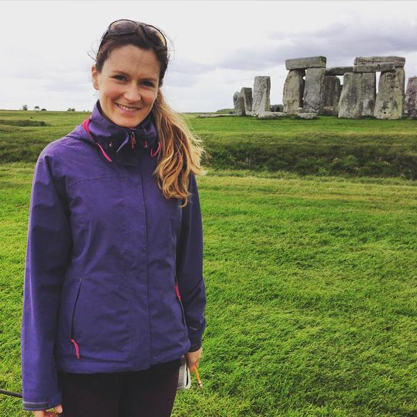 Ellie at Stonehenge