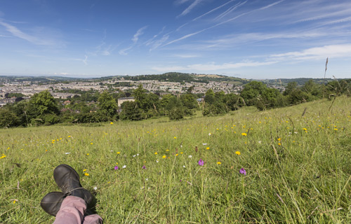 Relaxing with a view of Bath