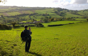 View of the green valleys around Bath - Foot Trails walking tour