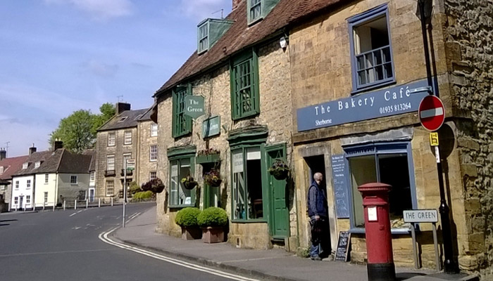 A Somerset village scene